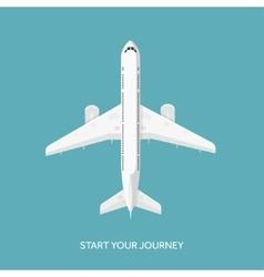 Plane airplane flat vector