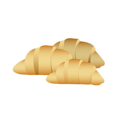 realistic picture set croissant bread icon vector image
