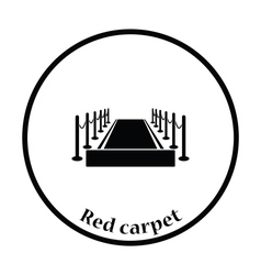 Red carpet icon vector