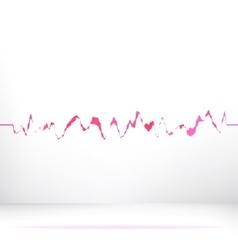 Red pink waveform background eps8 vector