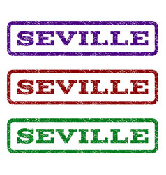 seville watermark stamp vector image