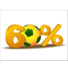 sixty percent discount icon vector image