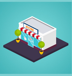 Store isometric facade of store vector