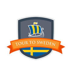 Tour to sweden vector