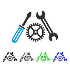 Tuning service flat icon vector