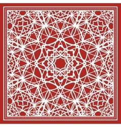 Red scarf with geometric design vector
