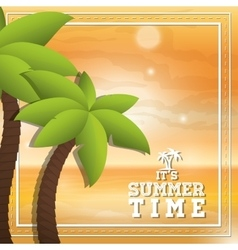 Palm tree and summer design vector