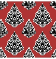 Christmas seamless pattern in folk style vector