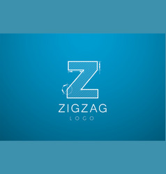 Logo template letters z zigzaz in the style of a vector