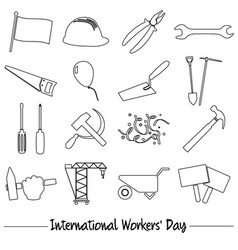 International worker day or labor day theme vector