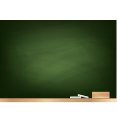 Blackboard background chalk and blackboard eraser vector