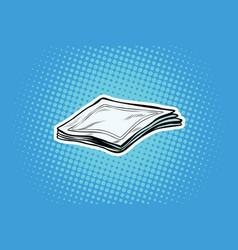 paper napkins or handkerchiefs vector image