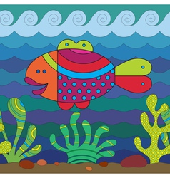 Stylize fish vector