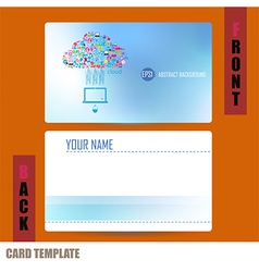 Modern template computer idea with social network vector