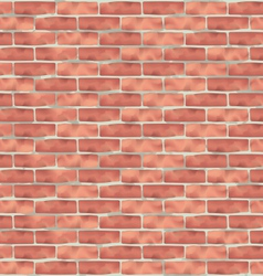 Brown brick wall grunge texture background vector
