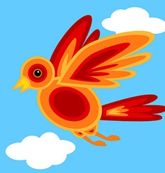 Graphic shape bird vector