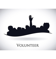 Volunteer design vector