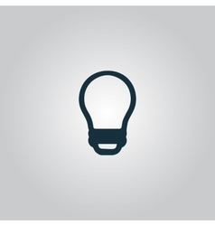 Led lamp bulb isolated vector