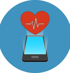 Smartphone fitness app concept Isometric design vector image
