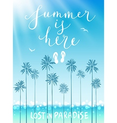 Summer is here poster vector