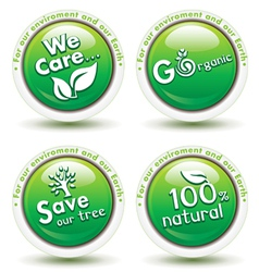 Environmental Awareness Icons vector image