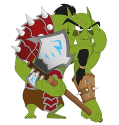 Angry orc warrior vector