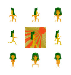 Assembly flat shading style icon mummy halloween vector