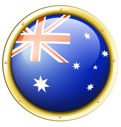 Badge design for australia flag vector
