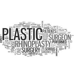 Before you decide on rhinoplasty read this text vector