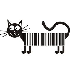Black cat cartoon cute vector image vector image