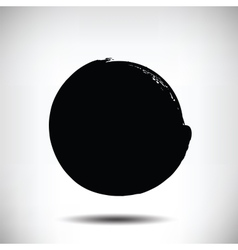 Black grunge circle background vector image vector image