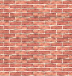 Brown brick wall grunge texture background vector