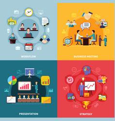 Business workflow design concept vector