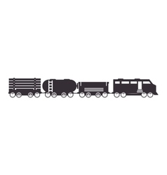 cargo train rail transport vehicle vector image