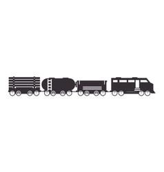Cargo train rail transport vehicle vector