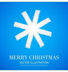 Christmas in school style with snowflake vector