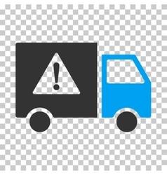 Danger transport truck eps icon vector