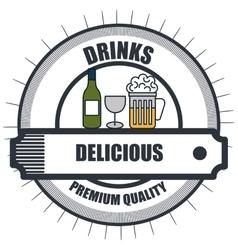 Drinks menu restaurant isolated icon vector