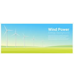 energy concept background with wind turbine 25 vector image vector image