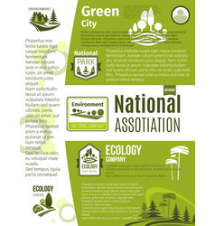 green city eco business ecology poster template vector image vector image