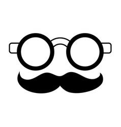 Groucho marx glasses funny or joke item icon image vector