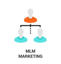 mlm marketing icon vector image