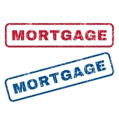 Mortgage rubber stamps vector