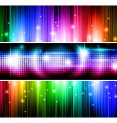 multicolored banners vector image vector image