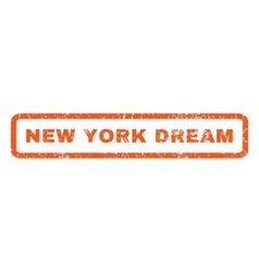 New york dream rubber stamp vector