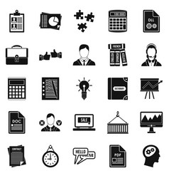 Paper icons set simple style vector