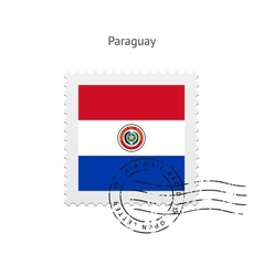 Paraguay flag postage stamp vector