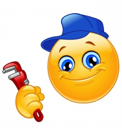 plumber emoticon vector image