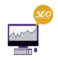 SEO design vector image