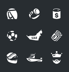 Set of uae icons vector